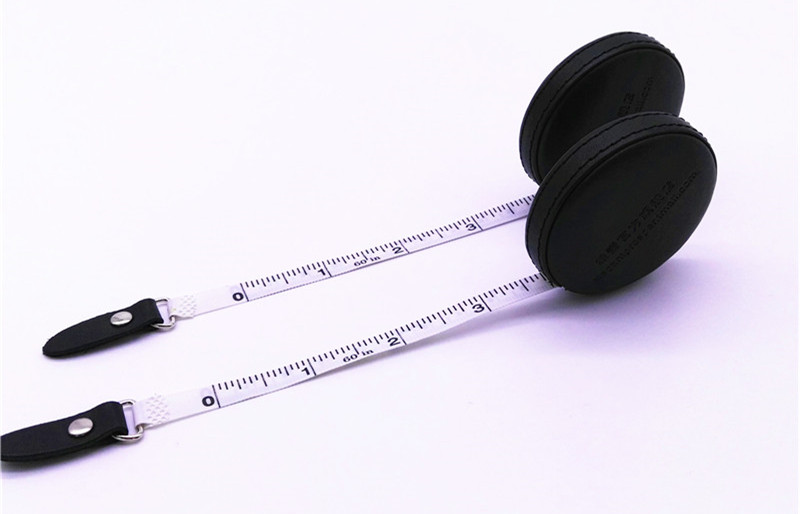 PU/leather wrapped Tailor Seamstress 150cm 60inch Tape Measure Cloth Ruler White